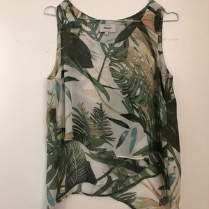 ONLY Floaty top with leaves